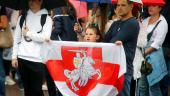 Με τη σημαία που χρησιμοποιούνταν και επί γερμανικής κατοχής εμφανίζονται πολλοί αντιπολιτευόμενοι στη Λευκορωσία