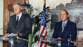 Ο Κ. Σημίτης με τον Μπ. Κλίντον