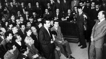 Ο Ν. Μπελογιάννης στη δίκη