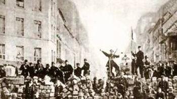 Οδόφραγμα Κομμουνάρων στο Παρίσι