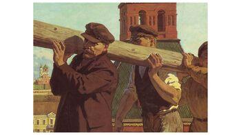 Ο Λένιν κατά το πρωτο «Κόκκινο Σάββατο»