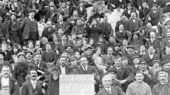 Σιδηροδρομικοί κατά την διάρκεια της απεργίας