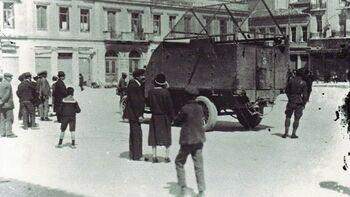 Στρατός στους δρόμους κατά την διάρκεια των «εκτάκτων μέτρων» της κυβέρνησης Παπαναστασίου