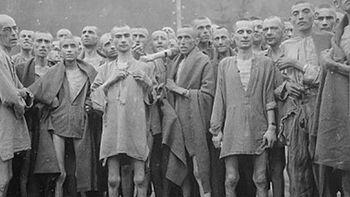 Φυλακισμένοι του Μαουτχάουζεν κατά την απελευθέρωσή τους