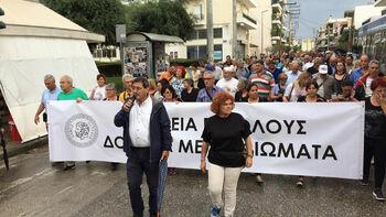 Από την κινητοποίηση του Δήμου Πάτρας στις 15 Ιούνη