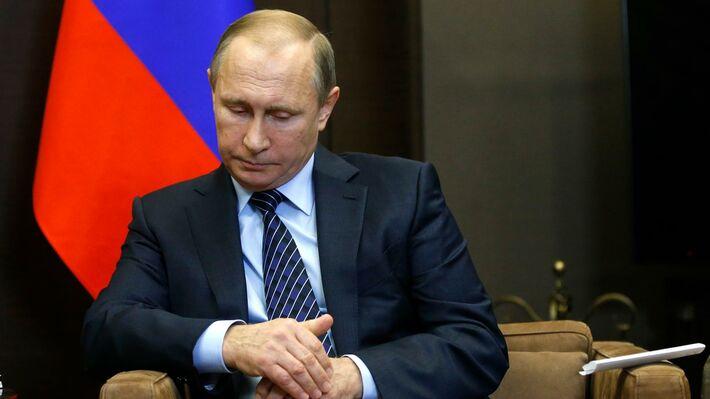 Ο Βλ. Πούτιν κατά την συνάντησή του με τον Αμπντάλα