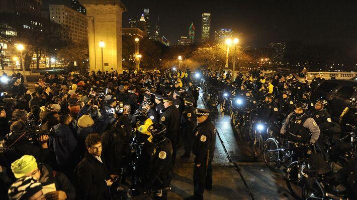 Διαδηλώσεις στο Σικάγο για τη νέα δολοφονία (φωτό ΑΡ)