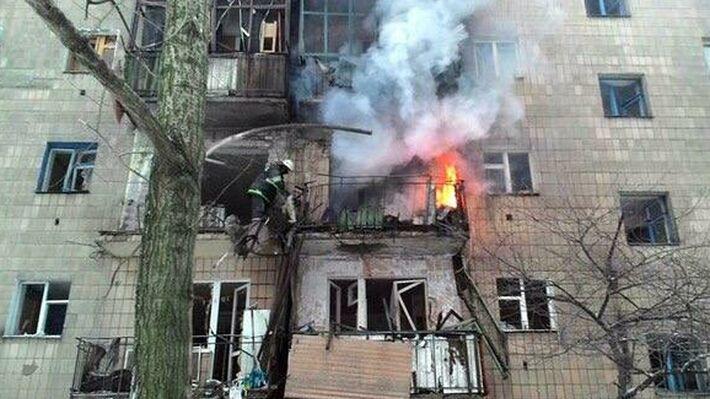 Από παλιότερο βομβαρδισμό στα περίχωρα του Ντονέτσκ