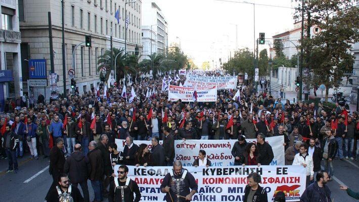 Από την πορεία στην Αθήνα στις 3 Δεκέμβρη