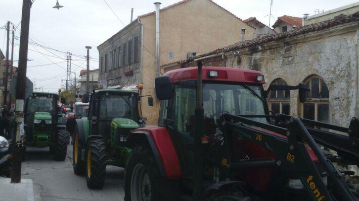 Από την κινητοποίηση των μικρομεσαίων αγροτών στο Σουφλί