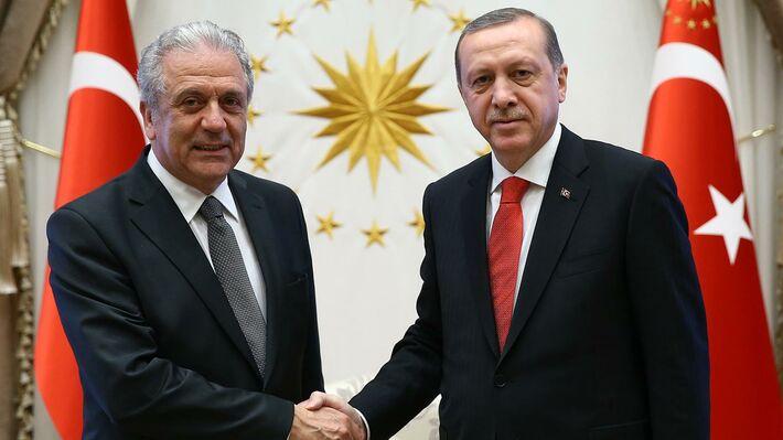Από τη συνάντηση με τον Ρ. Τ. Ερντογάν (πηγή: ΑΡ)