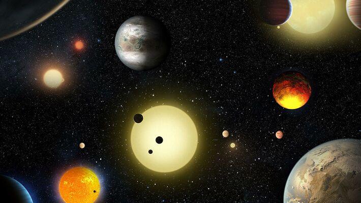 Καλλιτεχνική απεικόνιση από τις πλανητικές ανακαλύψεις που έκανε το «Κέπλερ»
