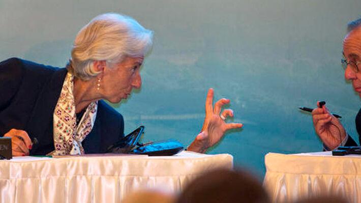 Κ. Λαγκάρντ και Π. Κ. Παντοάν στη σύνοδο των υπουργών Οικονομικών της G20 (Πηγή: AP)