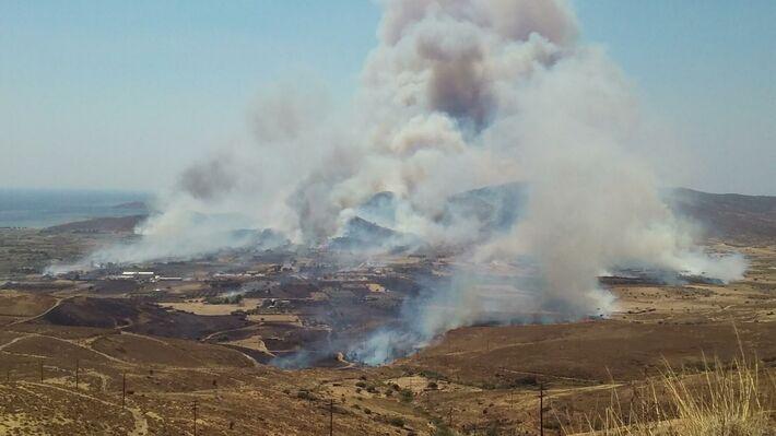 Από την πυρκαγιά στον Κάμπο Καρύστου