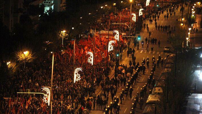 Από την περυσινή πορεία του ΚΚΕ για τον εορτασμό του πολυτεχνείου