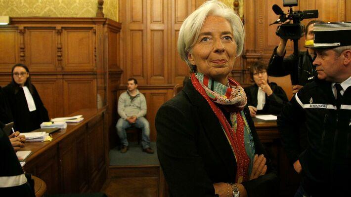 Η Λαγκάρντ στην έναρξη της δίκης της (Φωτο ΑΡ)