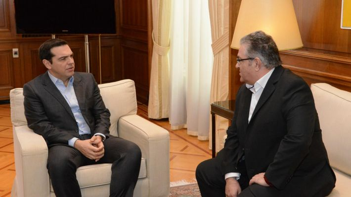 Από τη συνάντηση του ΓΓ της ΚΕ του ΚΚΕ με τον πρωθυπουργό