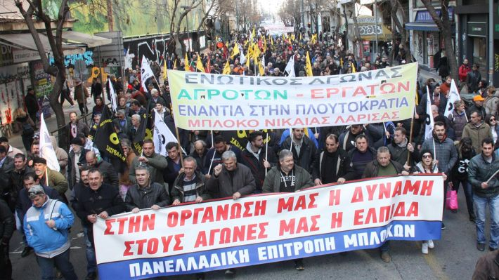 Από το πανελλαδικό συλλαλητήριο των αγροτών στην Αθήνα στις 14/2