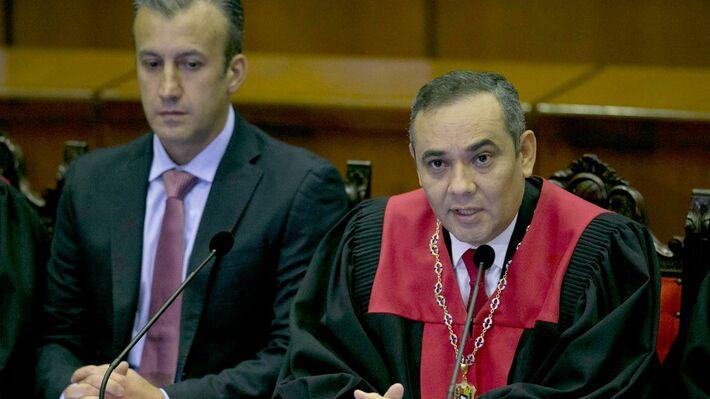 Ο αντιπρόεδρος της Βενεζουέλας με τον Πρόεδρο του Ανώτατου Δικαστηρίου