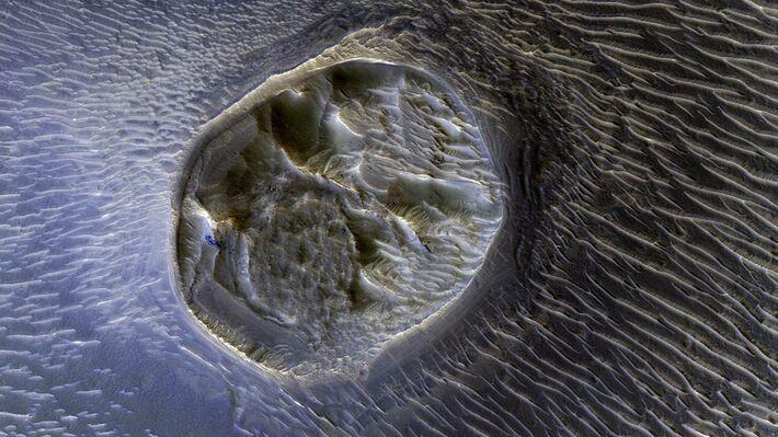Οροπέδιο στο «Noctis Labyrinthyus» του πλανήτη Άρη (Πηγή: NASA/JPL-Caltech/Univ. of Arizona)
