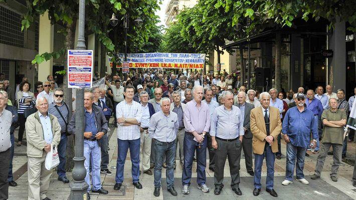 Από τη μαζική κινητοποίηση των συνταξιούχων στο Αγρίνιο
