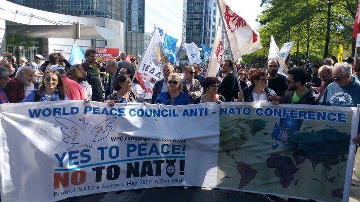 Από την κινητοποίηση στις Βρυξέλλες ενάντια στο ΝΑΤΟ