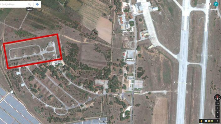 Οι εγκαταστάσεις στην βάση του Άραξου (Πηγή: Google Earth)