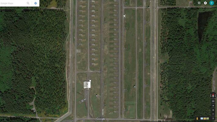 Η βάση Bangor Trident Base (Πηγή: Google Earth)