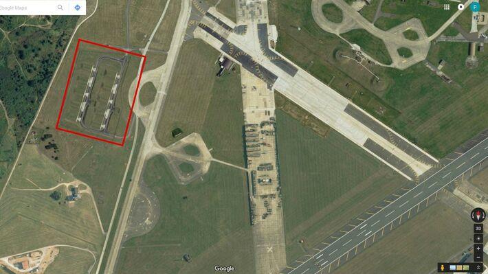 Οι εγκαταστάσεις στην βάση RAF Lakenheath (Πηγή: Google Earth)