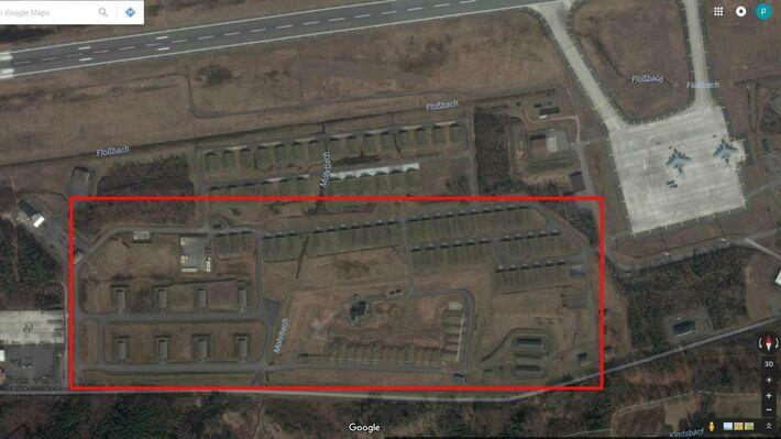 Οι εγκαταστάσεις στην βάση του Ramstein (Πηγή: Google Earth)