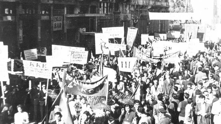Η μεγάλη συγκέντρωση για την απελευθέρωση της Αθήνας
