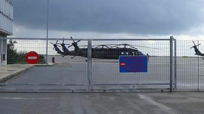 Ελικόπτερα στο αεροδρόμιο της Αλεξανδρούπολης