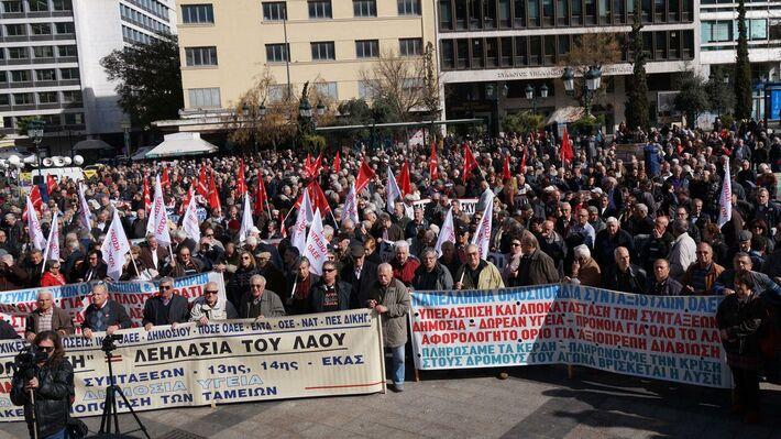 Από τη συγκέντρωση στην πλατεία Εθνικής Αντίστασης