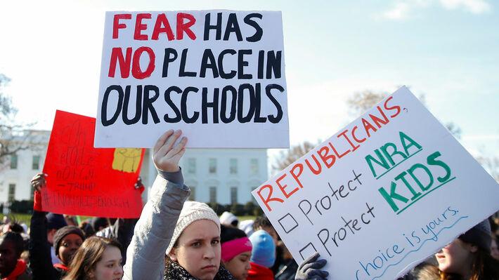 Από τις διαδηλώσεις των μαθητών στις ΗΠΑ κατά της οπλοκατοχής