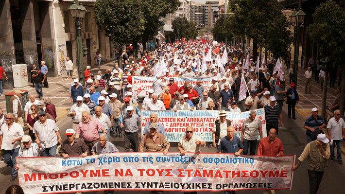 Από κινητοποίηση των συνταξιούχων στην Αθήνα στις 15 Μάη