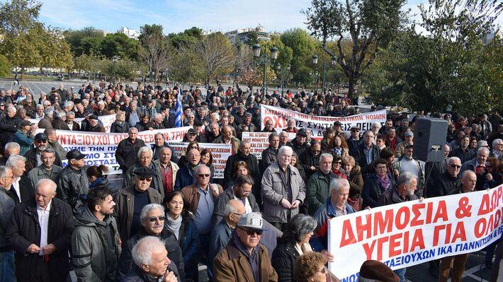 Απο παλιότερη κινητοποίηση συνταξιούχων στη Θεσσαλονίκη