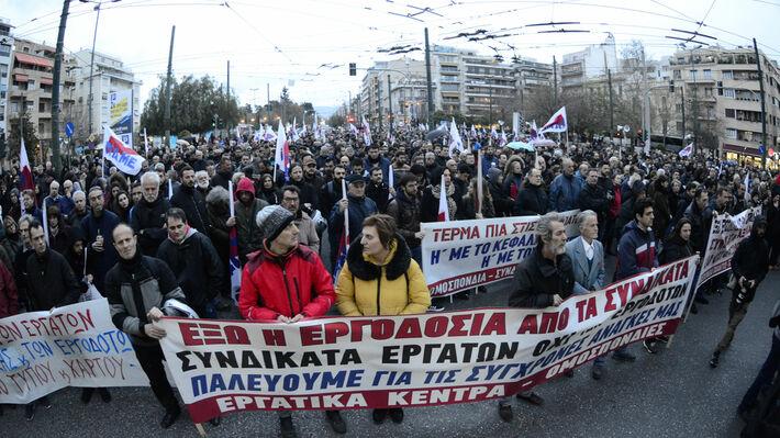 Από την πρόσφατη συγκέντρωση των συνδικάτων στο Πεδίον του Άρεως
