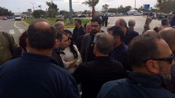 Από την κινητοποίηση των εργαζομένων στα τουριστικά λεωφορεία στο Ηράκλειο