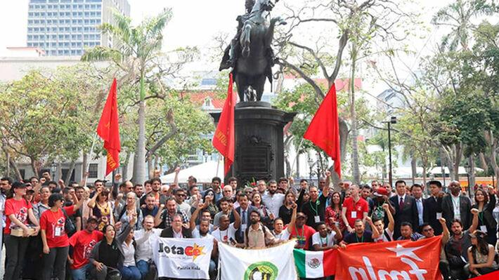 Οι αντιπροσωπείες της 2ης Διεθνούς Αποστολής Αλληλεγγύης στη Βενεζουέλα στο κέντρο του Καράκας