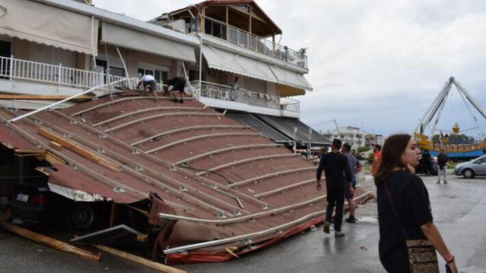 Από τις καταστροφές στην Χαλκιδική
