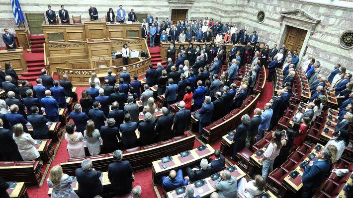 Από τη χθεσινή ορκωμοσία της νέας σύνθεσης του Κοινοβουλίου