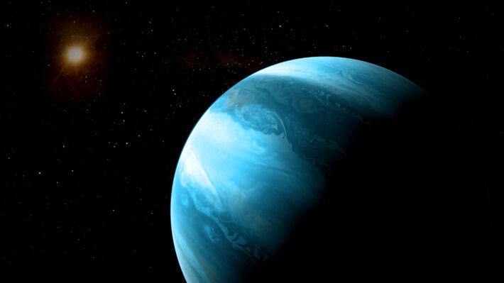 Καλλιτεχνική απεικόνιση του GJ 5312b και του άστρου του (Πηγή: CARMENES)