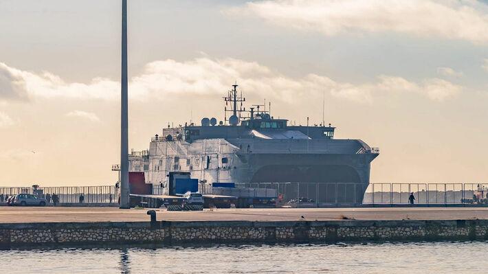 Το «USΝS Carson City» στο λιμάνι της Αλεξανδρούπολης
