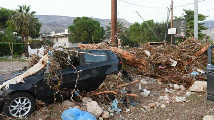 Από τις καταστροφικές πλημμύρες στην Κινέτα