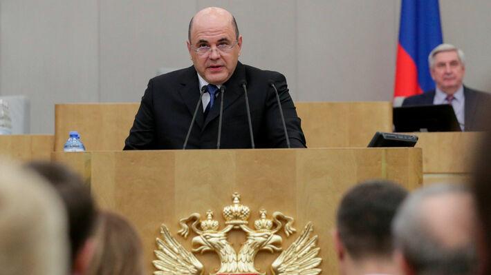 O Μιχαήλ Μισούστιν μιλάει στην Κρατική Δούμα