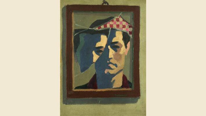 «Αυτοπροσωπογραφία», Ασαντούρ Μπαχαριάν. Το έργο φιλοτεχνήθηκε κατά την περίοδο του πολυετούς εγκλεισμού του