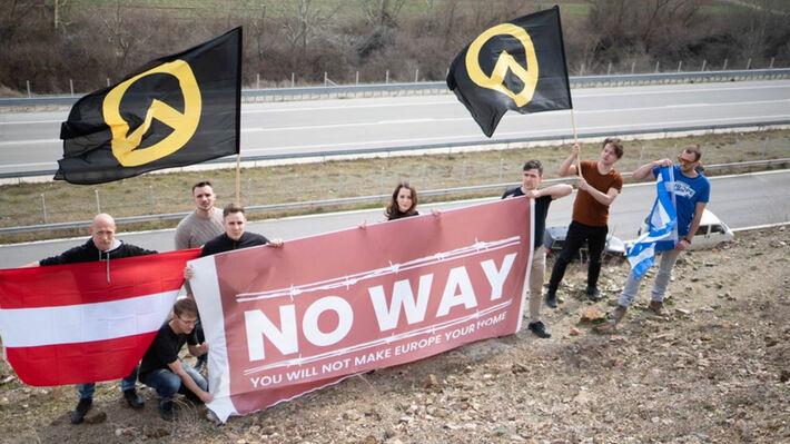 Οι ακροδεξιοί της «Ιdentitäre Bewegung Deutschland» στον Έβρο