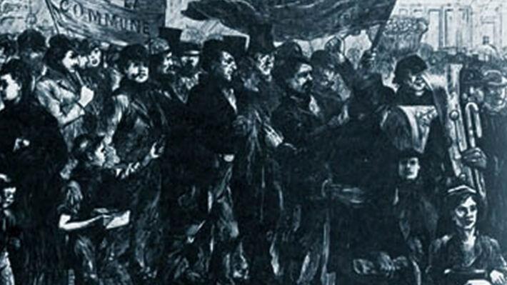 Εκδήλωση αλληλεγγύης των Άγγλων εργατών προς την Παρισινή Κομμούνα