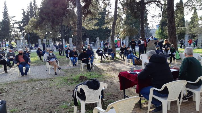 Από την σύσκεψη στις 10/4 στο πρώην στρατόπεδο Καρατάσιου στο δήμο Παύλου Μελά