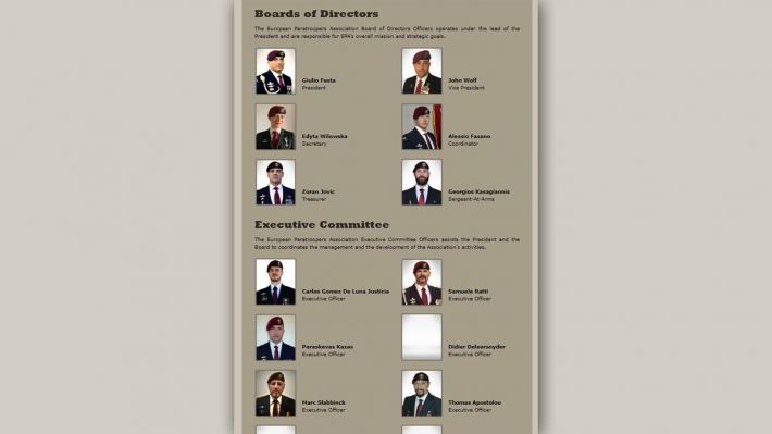 Το Διοικητικό Συμβούλιο και η Εκτελεστική Επιτροπή της παραστρατιωτικής οργάνωσης